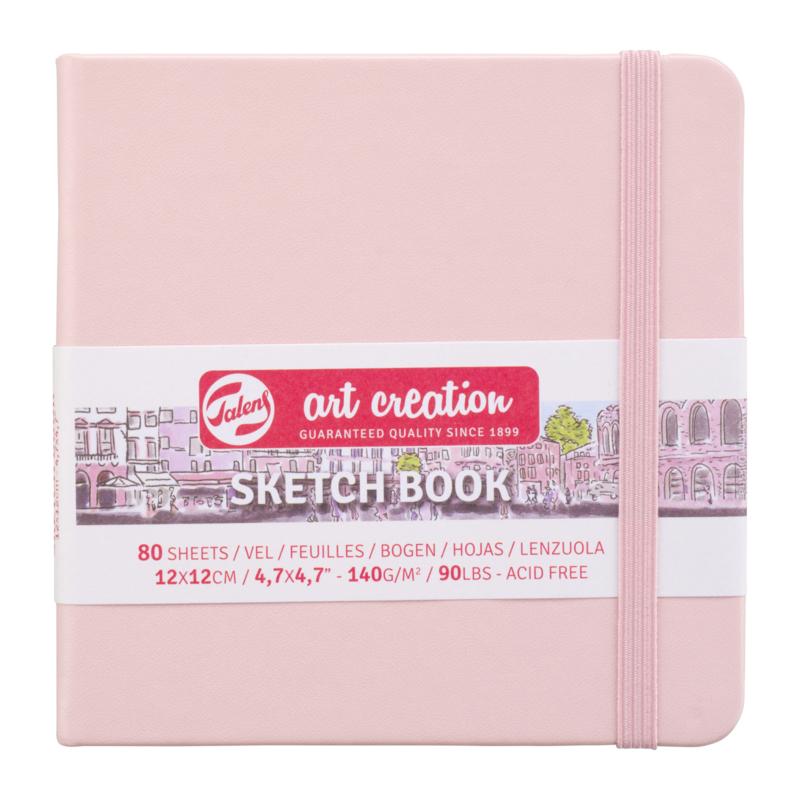 Talens art creation Brush / Schetsboek 12 x 12 cm  - 80 vellen - Pastel Pink