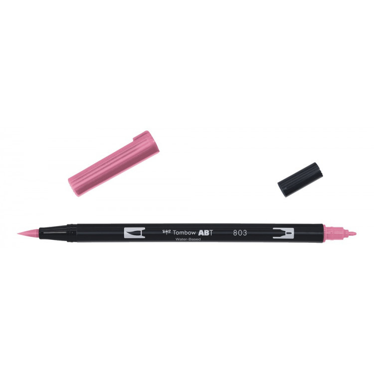 Tombow ABT Dual Brush Pen 803 pink punch