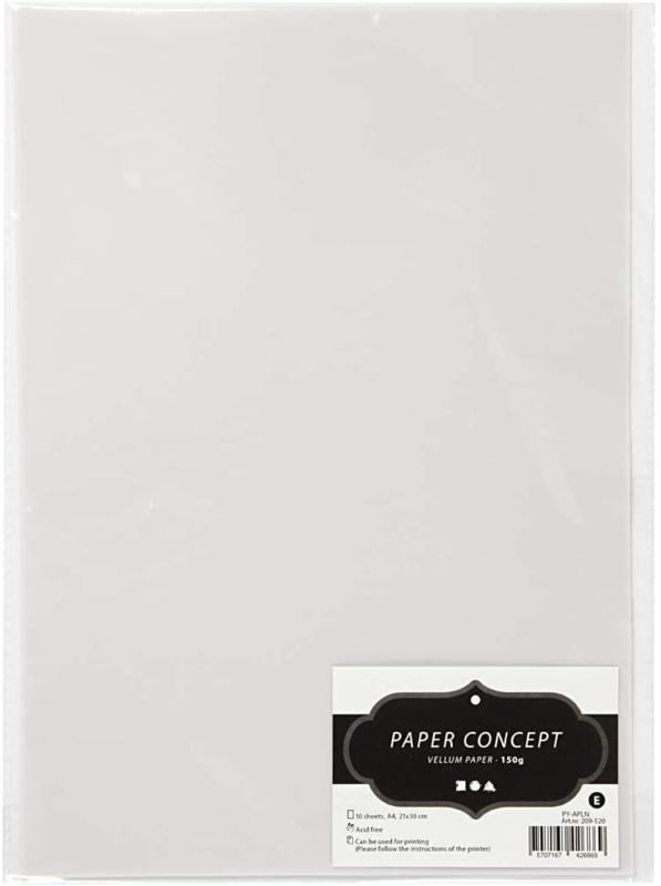 Paper Concept Vellum / Perkament papier A4 - 10 vellen