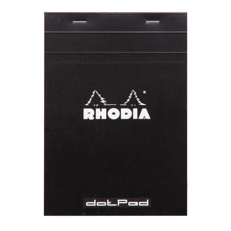 Rhodia Notitieblok A5 No. 16 Dotted Zwart - 80 vellen - wit papier
