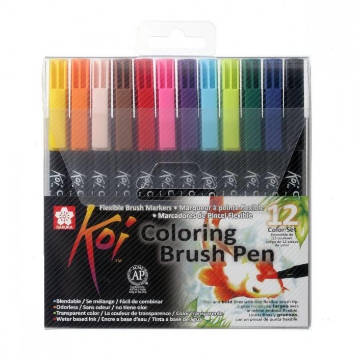 Sakura koi color brush pen set van 12