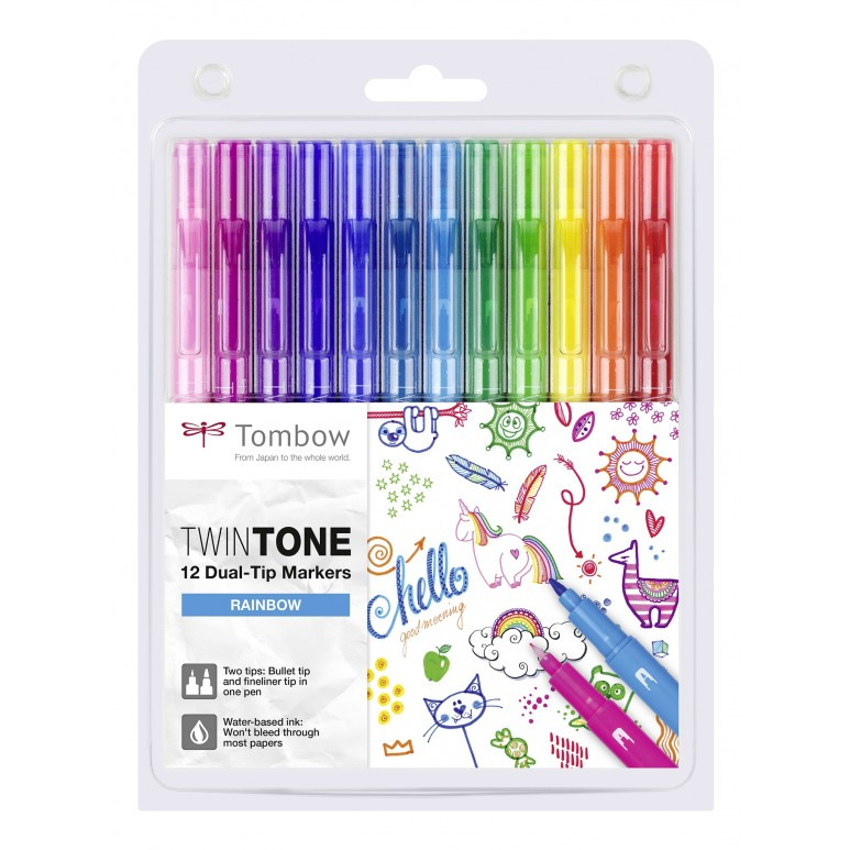 Tombow TwinTone Marker Set - Rainbow - Set van 12