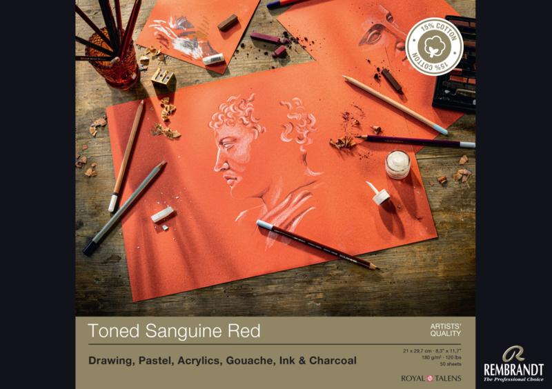 Rembrandt  Toned sanguine red A4 - 50 vellen - 180 grams