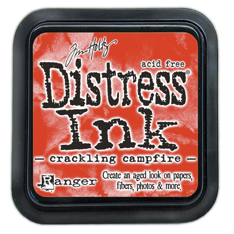 Tim Holtz Distress ink pad - crackling campfire