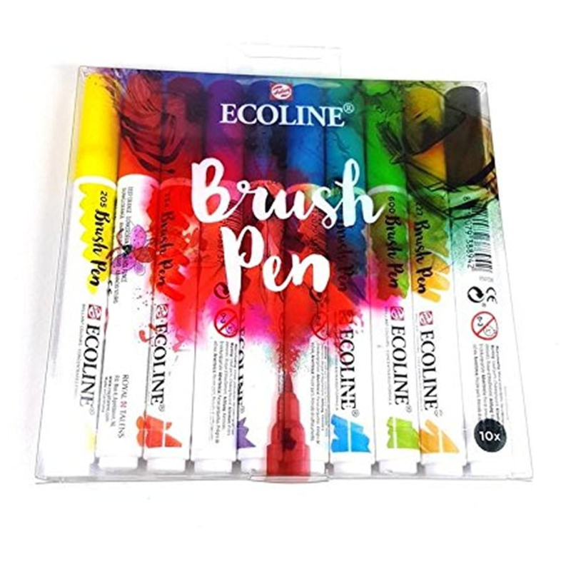 Talens Ecoline Brush Pen - set van 10 kleuren