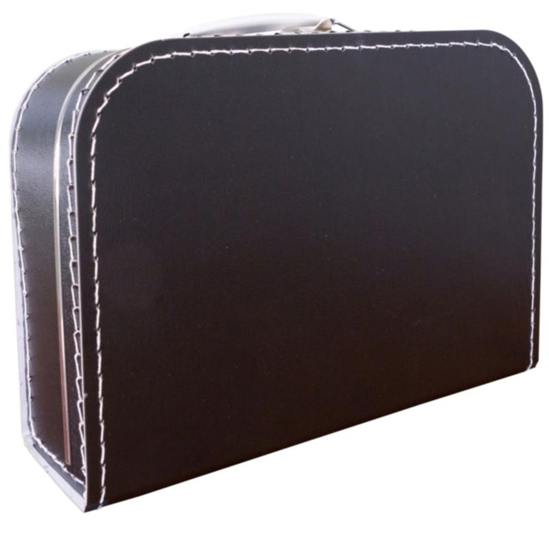Opbergkoffertje zwart 30 x 21 x 9 cm