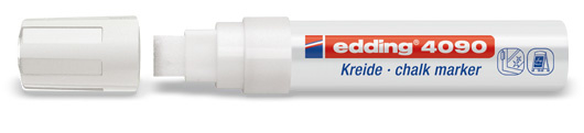 Edding 4090 Raam/krijtstift XXL - Beitelvormige punt 4-15 mm - Wit