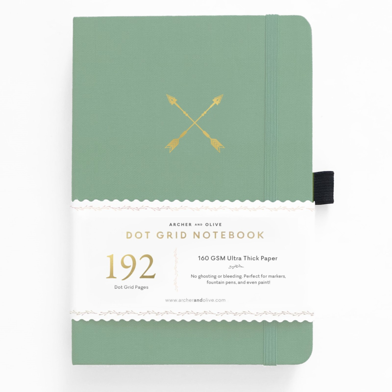 Archer & Olive bulletjournal/Notitieboek A5 - 192 pagina's - Dotted - Twin Arrows