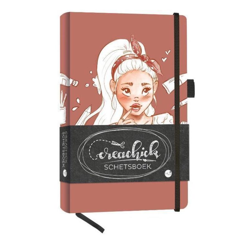Creachick Schetsboek A5 - 108 pagina's crème wit