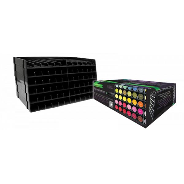 Spectrum Noir Opbergbox zwart voor 72 markers
