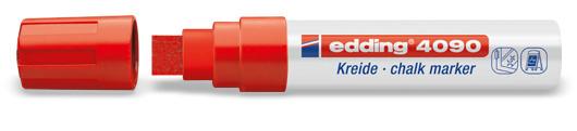Edding 4090 Raam/krijtstift XXL - Beitelvormige punt 4-15 mm - Rood