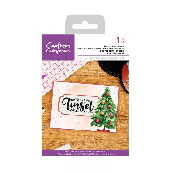 Crafter's Companion clearstamp - Tinsel In A Tangle
