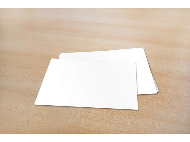 A6 enkele blanco kaarten 105 x 150 mm 240 gram  - 50 stuks - Wit