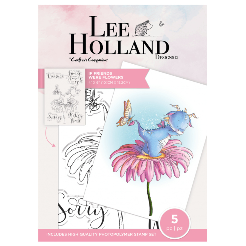 Crafter's Companion Lee Holland Clearstamp - If Friends Were Flowers