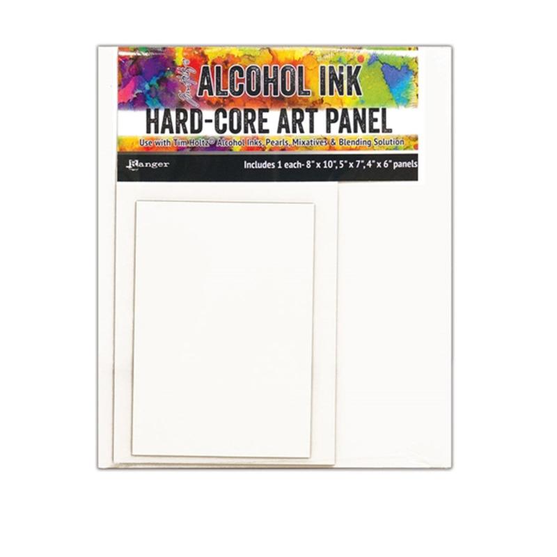 Tim Holtz alcohol ink hard-core art panel rechthoekig - set van 3