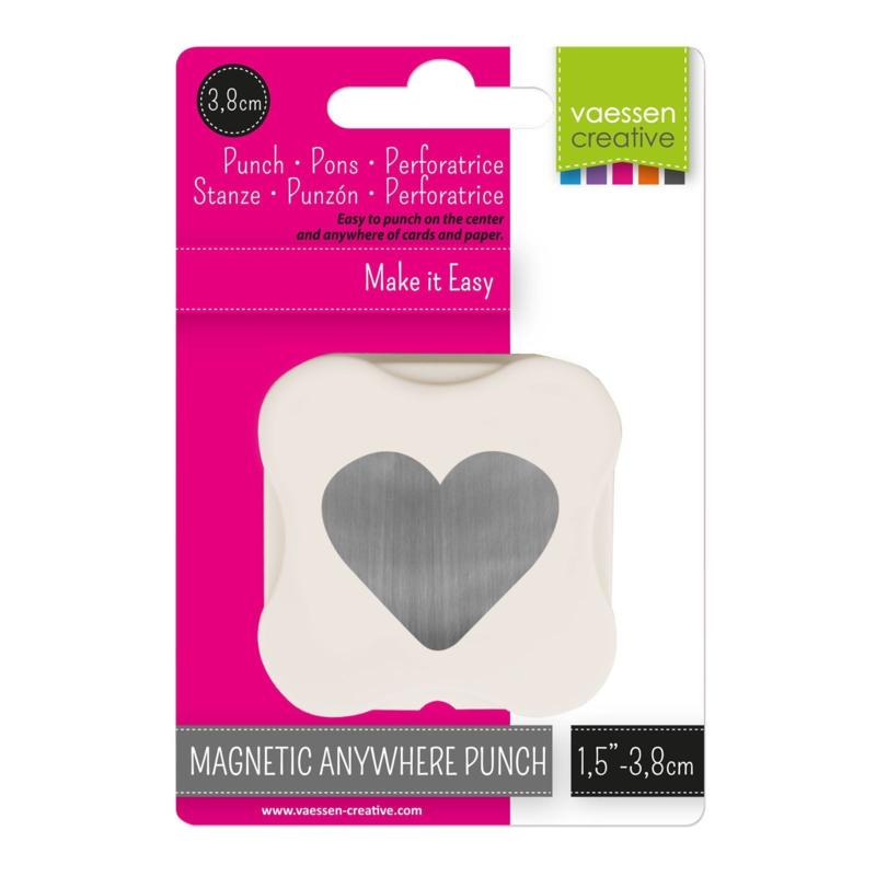 Vaessen Creative - Magnetische pons hart 38mm