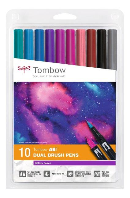 Tombow ABT Dual Brush Pen - set van 10 Galaxy