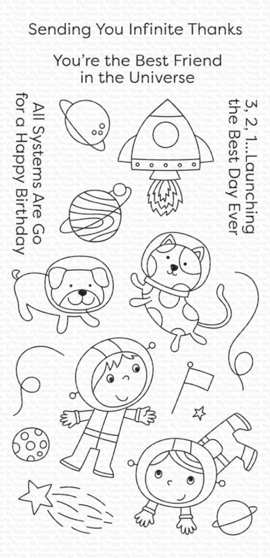 My Favorite Things clear stamps - set van 18 - Best Friends in the Universe