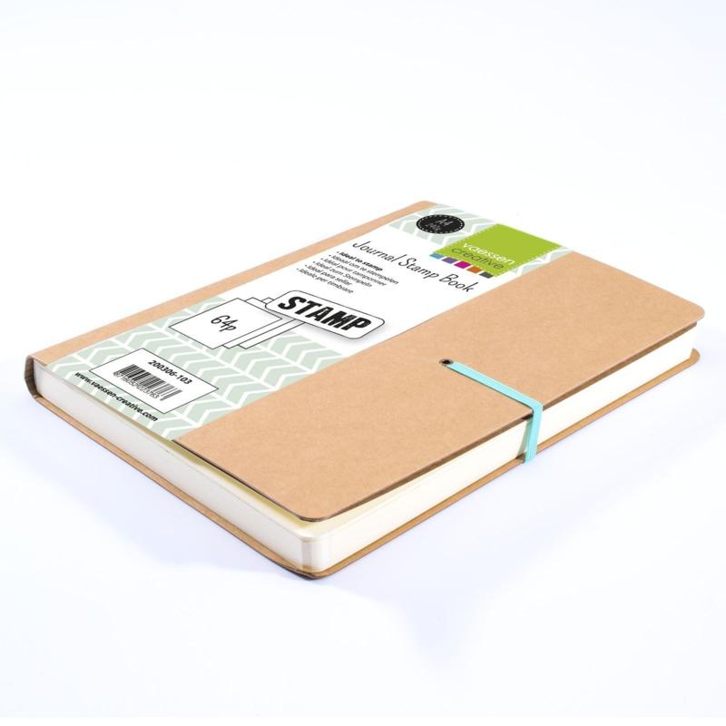 Vaessen Creative - Journal Stamp Book A4  - 64 vellen - Wit