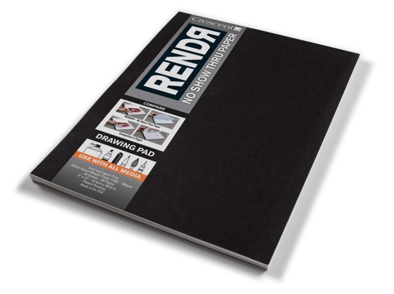 Rendr Alcohol Marker drawing pad 22,9 x 30,5cm - 24 vellen - 180 grams Wit