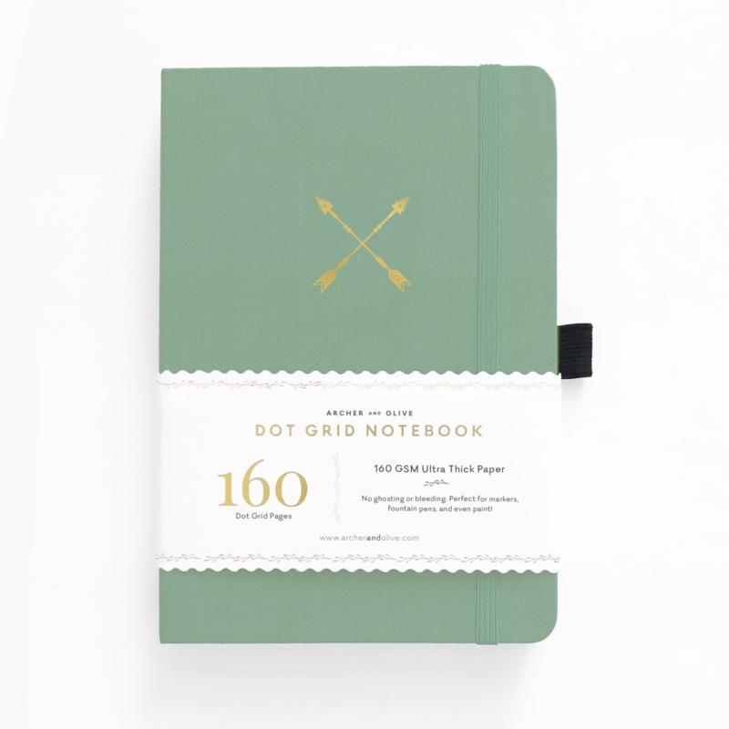 Archer & Olive bulletjournal/Notitieboek B5 17,5 x 25 cm - 160 pagina's - Dotted - Twin Arrows