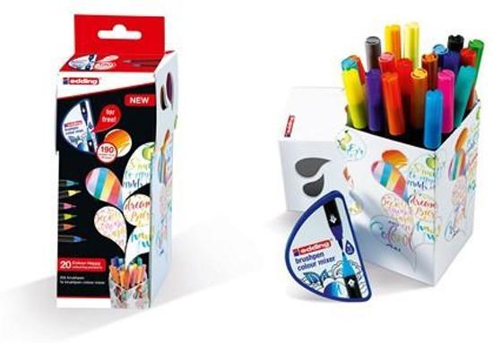 Edding Colour Happy Small box - set van 20 brush pennen incl. kleurenmixer