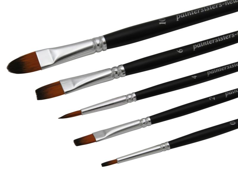 Paintersisters Aquarelpenselen soft Riva - set van 5