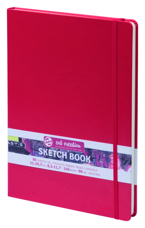 Talens art creation Brush / Schetsboek 21 x 29,7 cm - 80 vellen - Rood