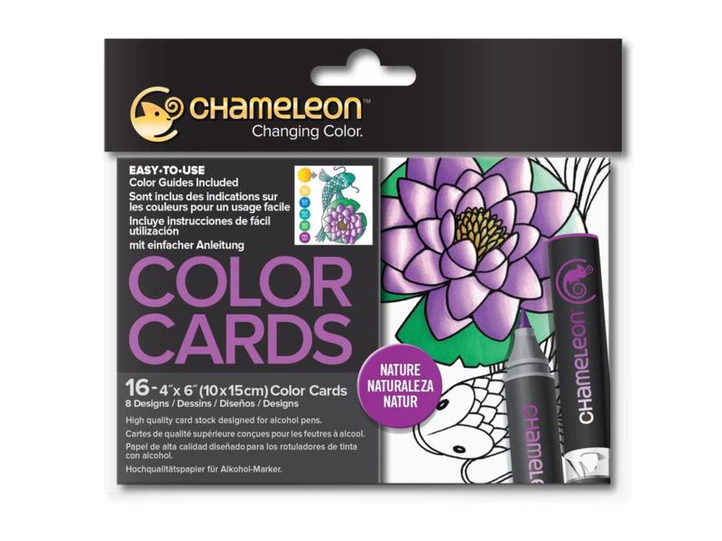 Chameleon Color Cards - Nature 10 x 15 cm - set van 16