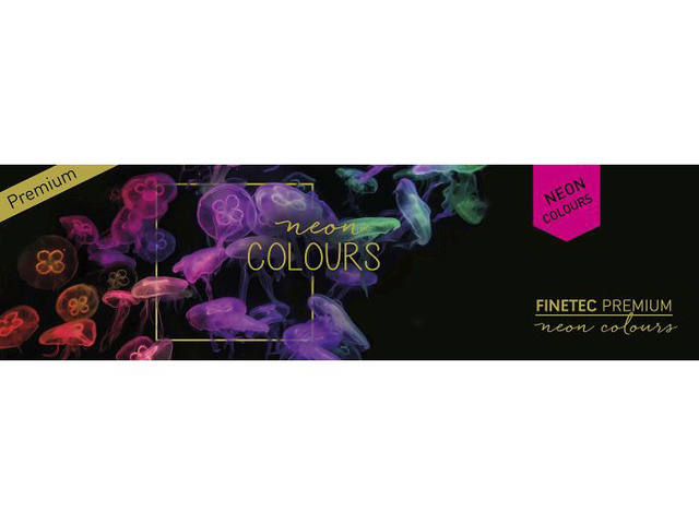 FINETEC Aquarelverf - Neon Colours palet FN9000 - 6 kleuren