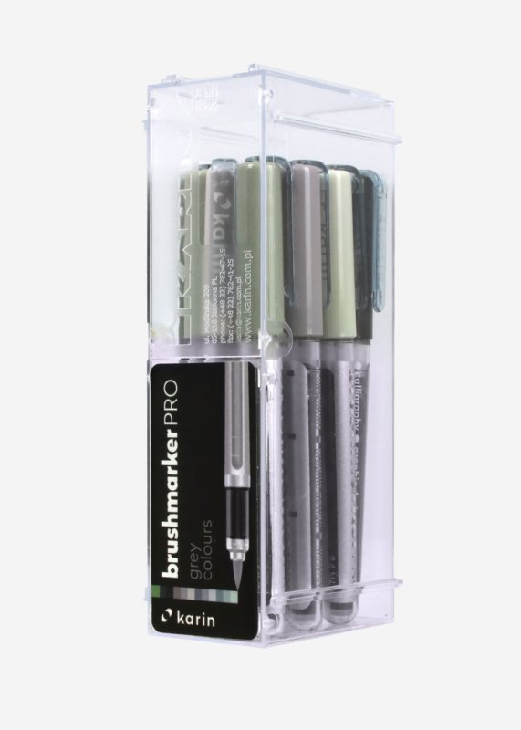 Karin Brushmarker PRO Grey colours - set van 12