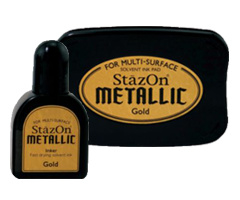 Stazon sneldrogend stempelkussen - Metallic Gold