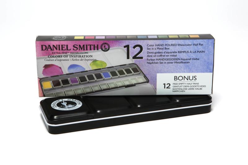 Daniel Smith colours Extra Fine Watercolor Aquarelset - set van 12 napjes