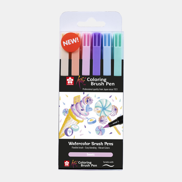 Sakura Koi coloring brush pen Sweets - set van 6