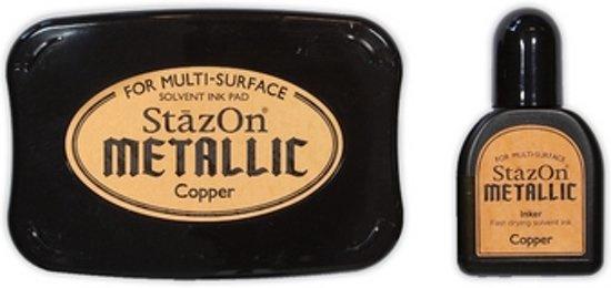 Stazon sneldrogend stempelkussen - Metallic Copper