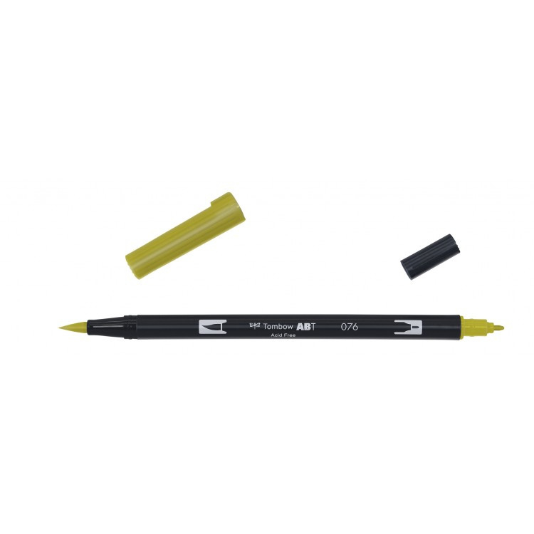 Tombow ABT Dual Brush Pen 076 green ochre