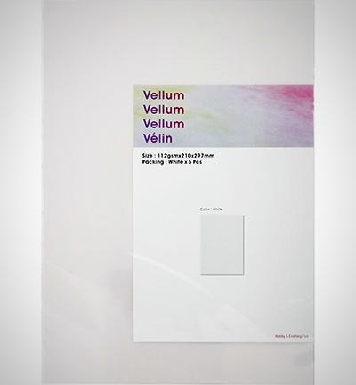 Vellum / Perkament papier A4 - 5 vellen
