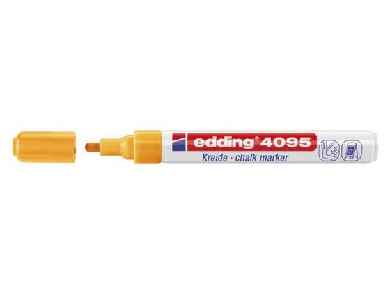 Edding 4095 Raam/krijtstift - rond 2-3 mm - Neonoranje