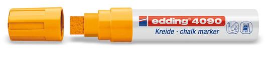 Edding 4090 Raam/krijtstift XXL - Beitelvormige punt 4-15 mm - Neonoranje