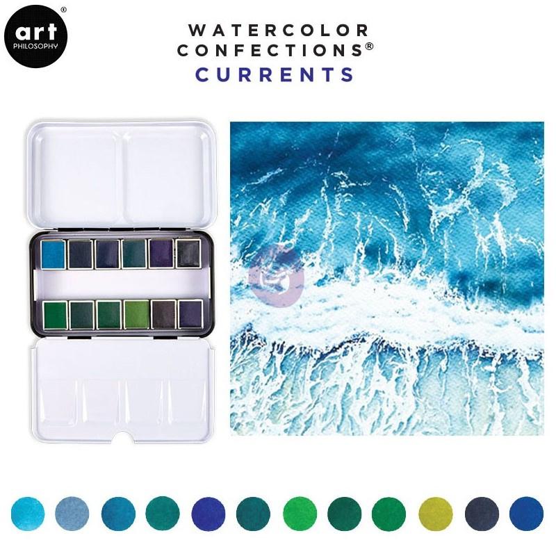 Prima Marketing Confections Aquarelverf Currents - set van 12 kleuren