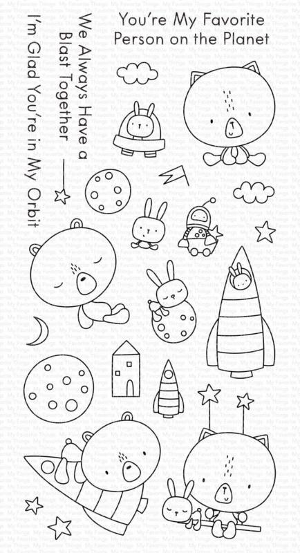 My Favorite Things clear stamps - set van 24 - Blastoff Buddies