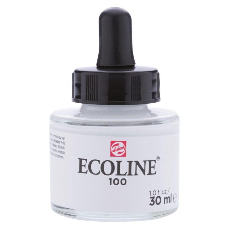 Talens Ecoline Vloeibare waterverf 30 ml - 100 wit