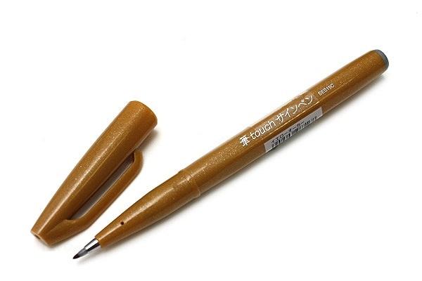 Brushpen Pentel Touch Pen SES15C - Oker