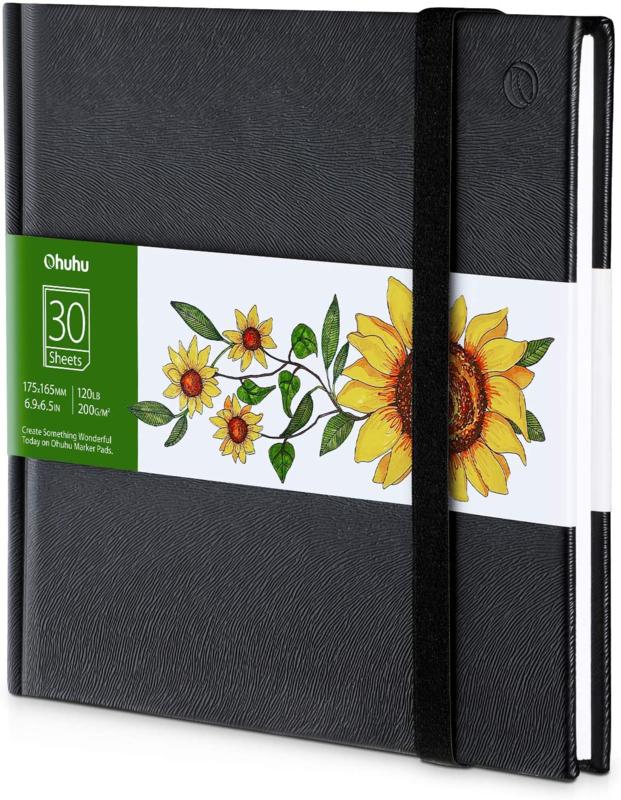 Ohuhu Alcohol marker papier pad 17,5 x 16,5 cm - 200 grams - 30 vellen