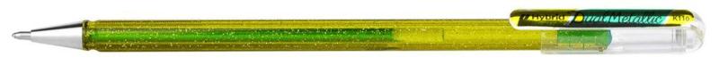 Pentel Hybrid Dual Metallic gelpen  K110 1,0 mm - Geel/Metallic Groen - Limited Edition