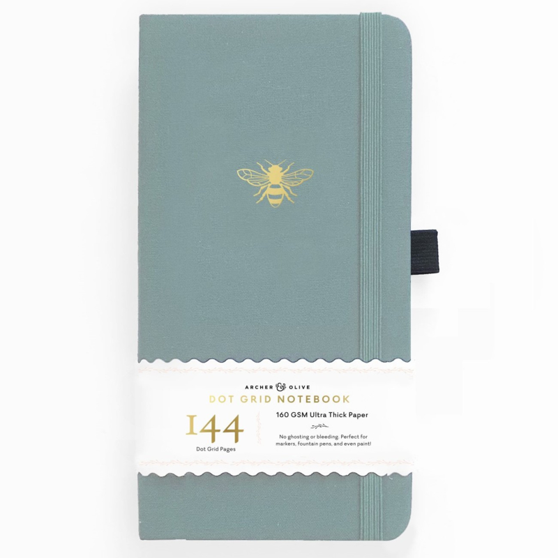 Archer & Olive bulletjournal/Notitieboek 11x 21cm - 144 pagina's - Dotted - Traveler's Vintage Bee