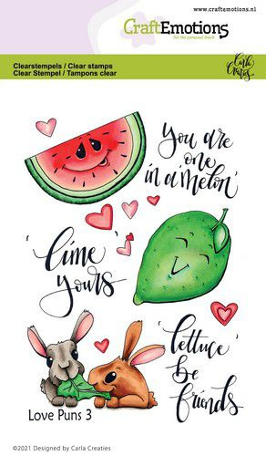 CraftEmotions clearstamps A6 - Love Puns 3 - Carla Creaties