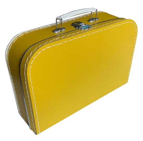 Opbergkoffertje okergeel 30 x 21 x 9 cm