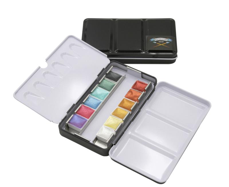 Paintersisters Aquarelverf  ARTIST - set van 12 kleuren Metallic kleuren