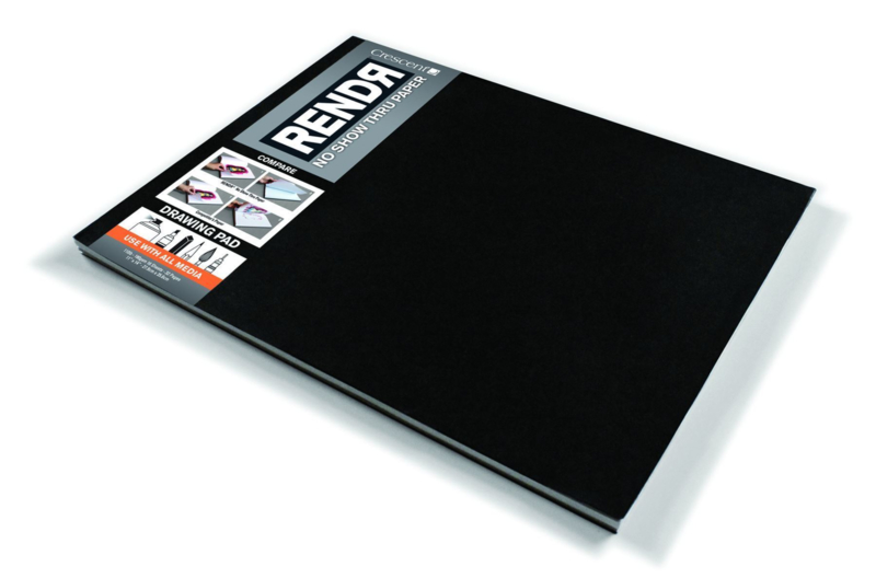 Rendr Alcohol Marker drawing pad 27,9 x 35,6 cm- 16 vellen - 180 grams Wit